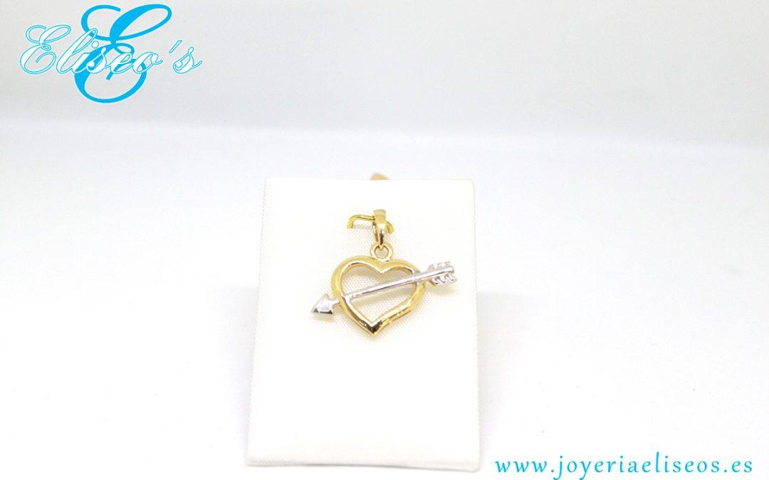 Colgantes de Oro con forma de Corazón en Joyería Eliseo´s