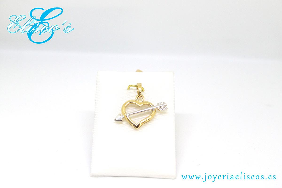 colgante-corazon-flecha-oro-joyeria-eliseos-malaga