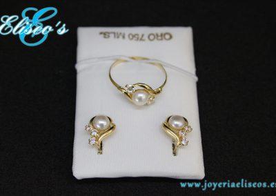 conjunto-pendientes-anillo-oro-forma-hoja-perla1-joyeria-eliseos-malaga