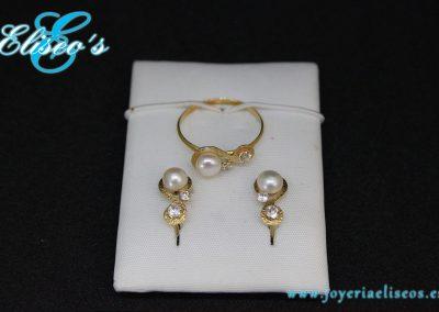 conjunto-pendientes-anillo-oro-perlas-joyeria-eliseos-malaga